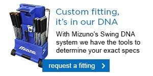 Mizuno's fitting cart