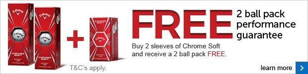 Callaway Performance Guarantee - free 2-ball pack